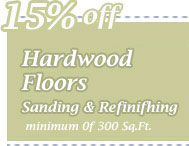 Cleaning Coupons | 15% off wood floor sanding & refinishing | CITICLEAN