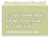 Cleaning Coupons | Upholstery scotchguard specials | CITICLEAN